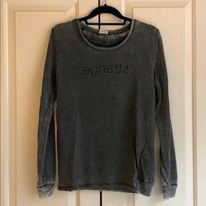 Zara Gray Burnout Graphic T Shirt